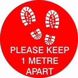 Please Keep 1 Metre Apart Floor Graphic Sticker