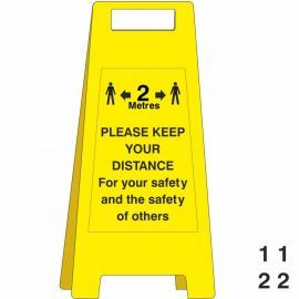 Please Keep Your Distance Freestanding Sign - With Spare Numbers