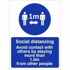 Social Distancing Sign - 1 Metre
