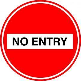 No Entry Floor Graphic Sticker
