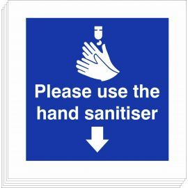 Please Use The Hand Sanitiser Sign (Multipack)