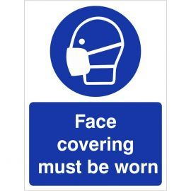 Face Covering Must Be Worn Sign