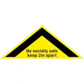 Be Socially Safe Keep 2m Apart Floor Sticker (Triangle)