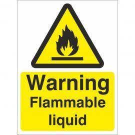 Warning Flammable Liquid Sign