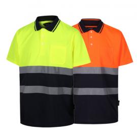 High Visibility Two Tone Polo Shirt