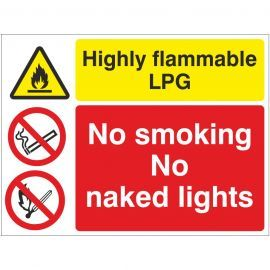 Highly Flammable LPG Sign