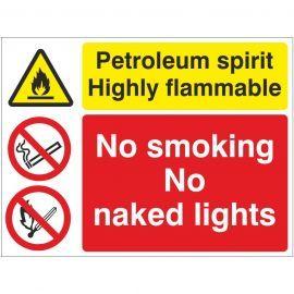 Petroleum Spirit Highly Flammable Sign