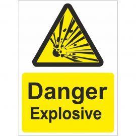 Danger Explosive Sign