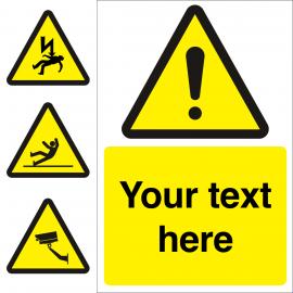 Custom Hazard Warning Sign
