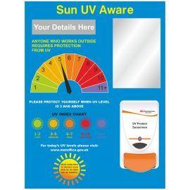 Sun Protect UV Skin Safety Board Sign