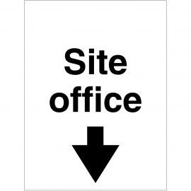 Site Office Arrow Down Sign