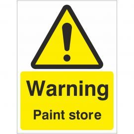Warning Paint Store Sign