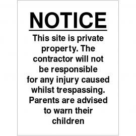 This Site Is Private Property Sign