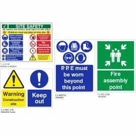 Budget Construction Safety Signs Pack (Small)