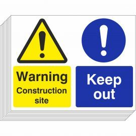 Construction Site Keep Out Signs (10 Pack)