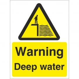 Warning Deep Water Sign