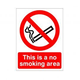 This Is A No Smoking Area Sign