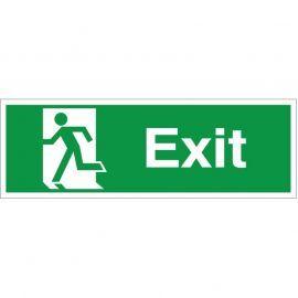 Exit Man Running Left Sign