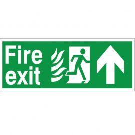 Hospital Compliant Fire Exit Arrow Up Sign