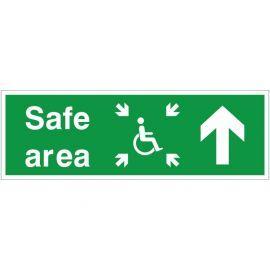 Refuge Safe Area Arrow Up Sign