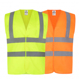 High Visibility Two Band And Brace Waistcoat