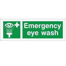 Emergency Eye Wash Safety Sign