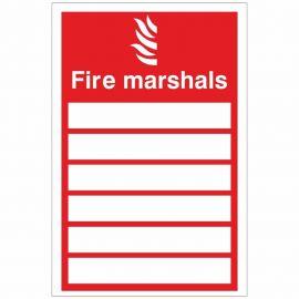 Fire Marshals Sign 150x200