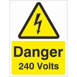 Danger 240 volts Safety Sign