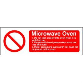Microwave Oven Sign