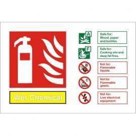 Wet Chemical Fire Identification Sign