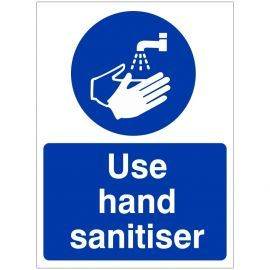 Use Hand Sanitiser Sign