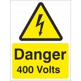 Danger 400 Volts Safety Sign