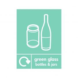 Green Glass Bottles And Jars Sign