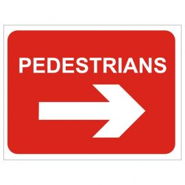 Pedestrians Keep Right Temporary Road Sign