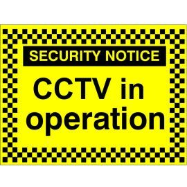 Security Notice CCTV In Operation Signs
