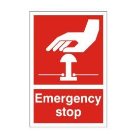 Red Emergency Stop First Aid Sign