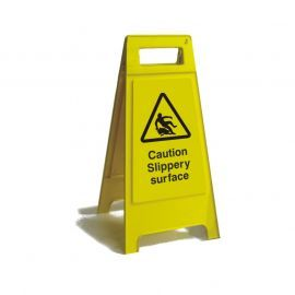 Caution Slippery Surface Free Standing Sign
