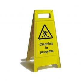 Cleaning In Progress Free Standing Sign 600mm