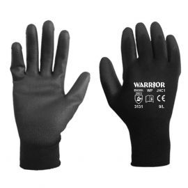 Warrior Black PU Palm Gloves