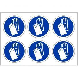 Protective Hand Labels 100mm in Diameter
