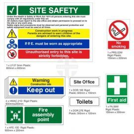 Small Construction Safety Signs Pack