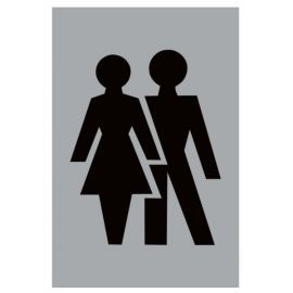 Aluminium Male and Female Toilet Sign