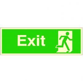 Exit 'Man Running Right' Glow In Dark Sign