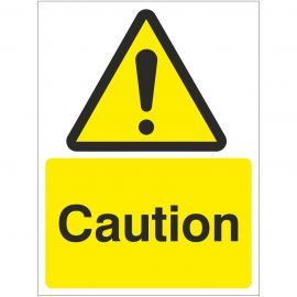 Caution Sign Or Sticker