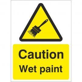 Caution Wet Paint Sign Or Sticker