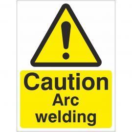 Caution Arc Welding Sign Or Sticker
