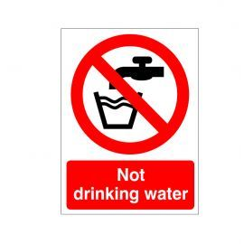 Not Drinking Water Sign Or Sticker