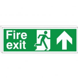 Fire Exit Up Arrow Sign (Double Sided)