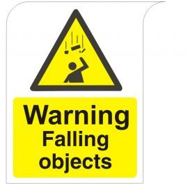 Curve Top Warning Falling Objects Sign
