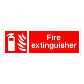 Fire Extinguisher Sign Rigid Plastic - 600W x 200Hmm